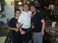 Pipik, Janko and Stanko in the kitchen